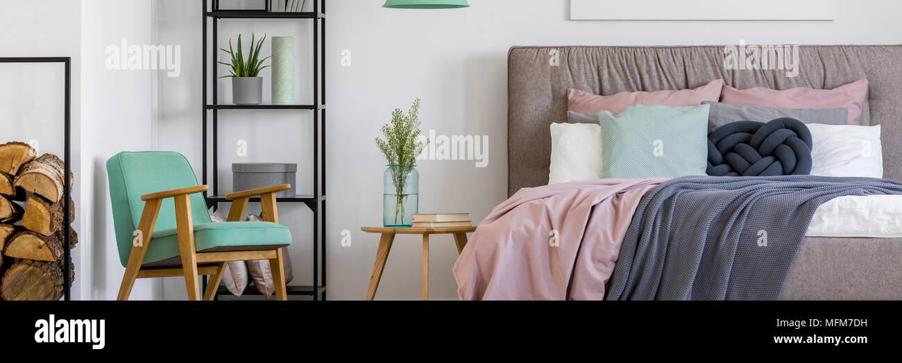 Gemutliche Skandinavischen Schlafzimmer Innenraum Fur Eine Frau Mit