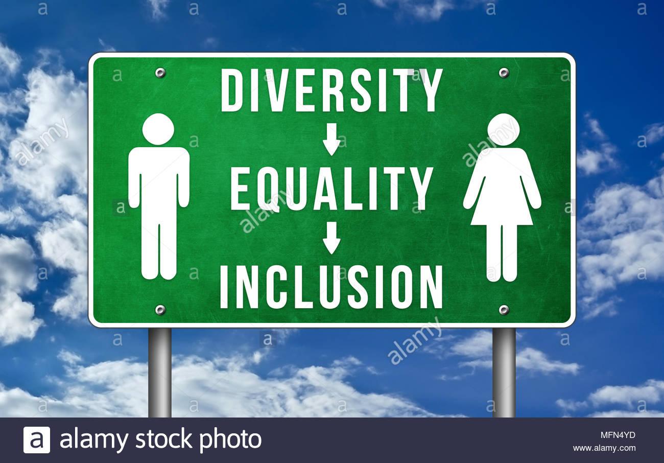 Vielfalt, Gleichberechtigung und Integration Stockbild