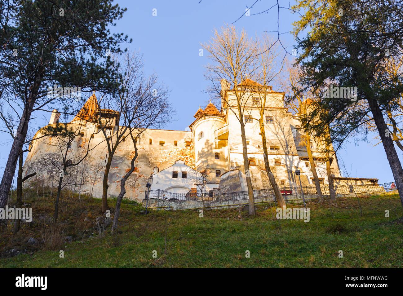 Das Schloss Bran, Siebenbürgen, Rumänien Stockbild