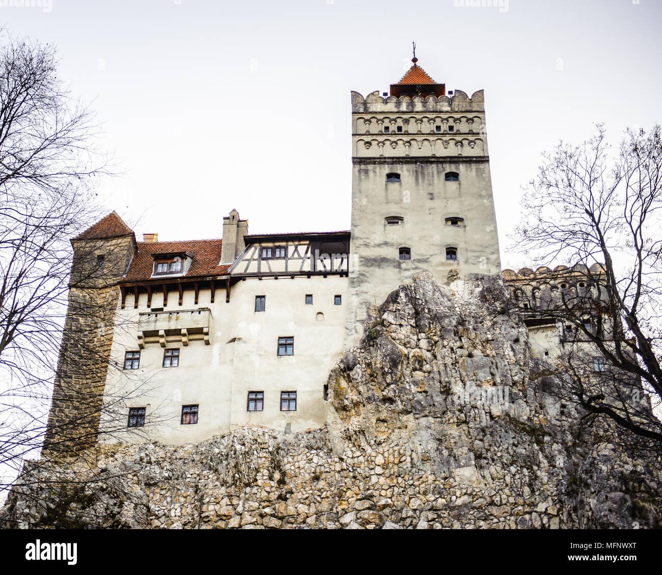 Draculas Schloss in Bran, Rumänien. Es ist, als die Heimat der Vampire Dracula, Roman Charakter des Bram Stoker vermarktet. Stockbild
