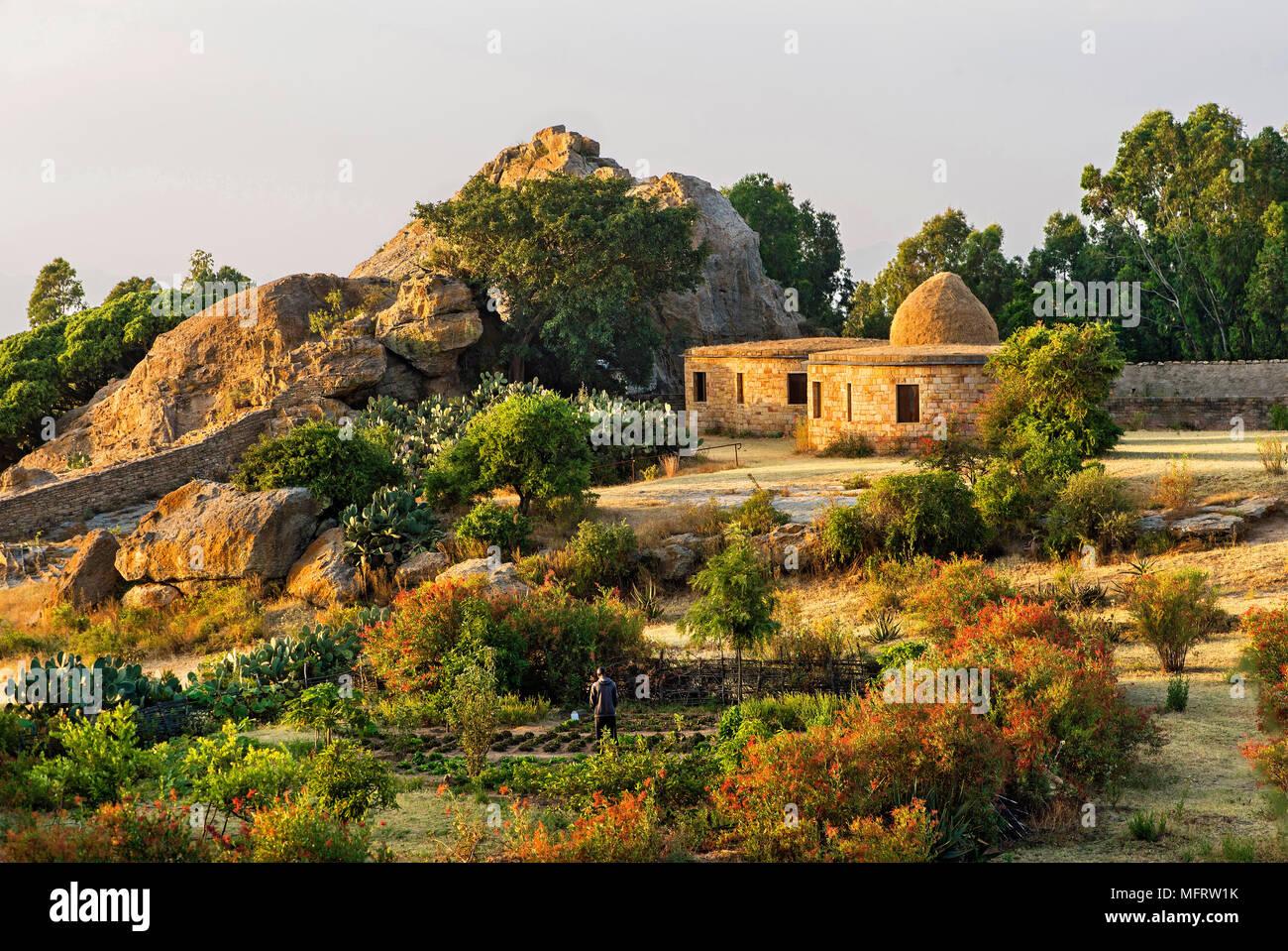 Pension, Gheralta-Lodge, Hawzien, Tigray, Äthiopien Stockbild