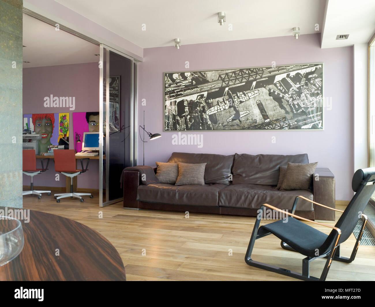 Wohnzimmer Grosses Foto Oben Couch Auf Holzboden Neben Home