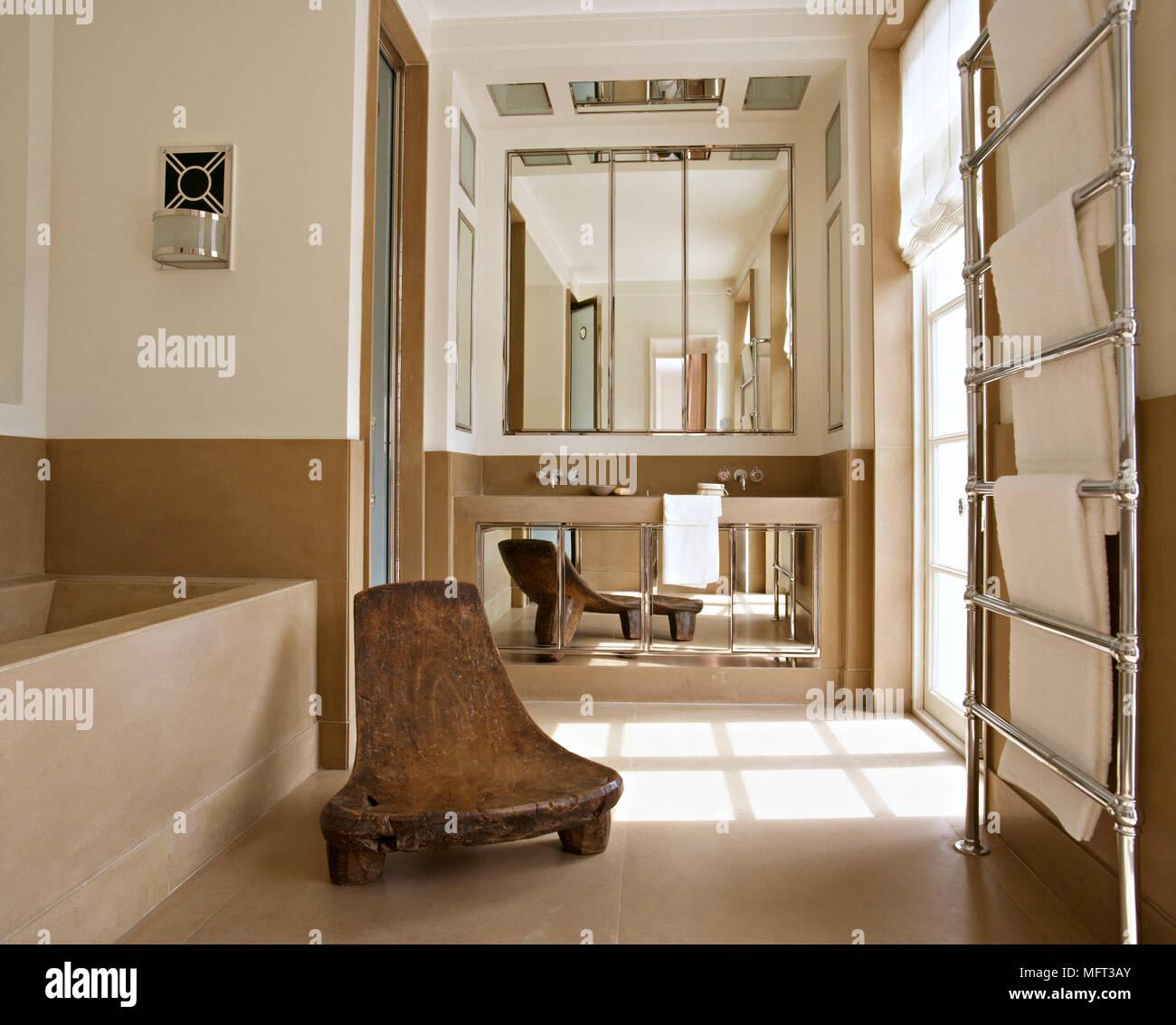 naturliche interieur mit stein haus design bilder, moderne neutrale badezimmer stein badetuchhalter kühler interieur, Design ideen