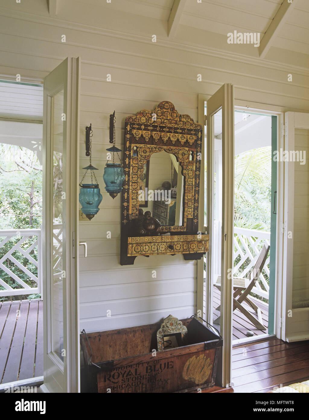 Details Von Einem Reich Verzierten Gold Dekorative Spiegel Zwischen