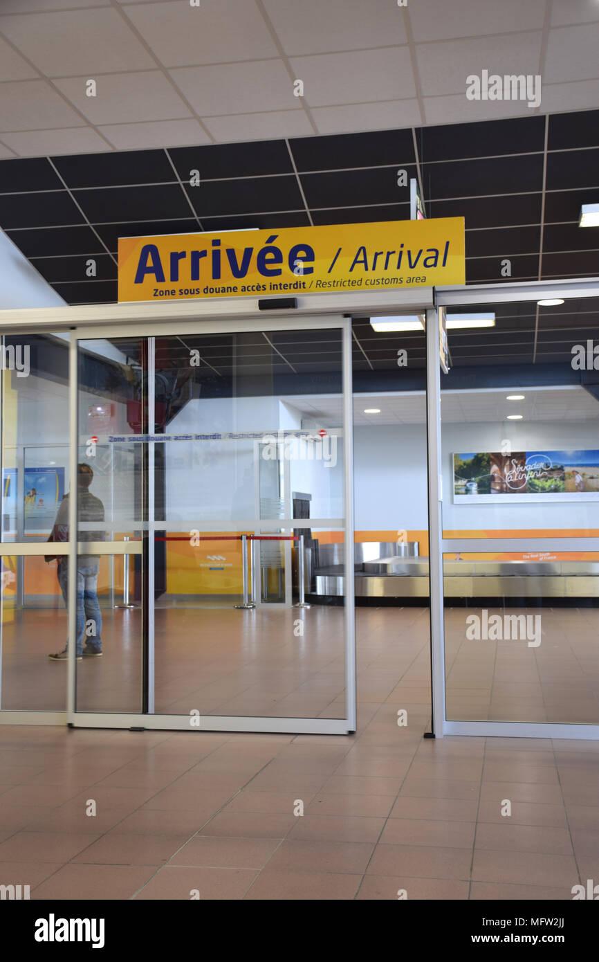 Beziers Flughafen, SW Frankreich 2018 Stockfoto