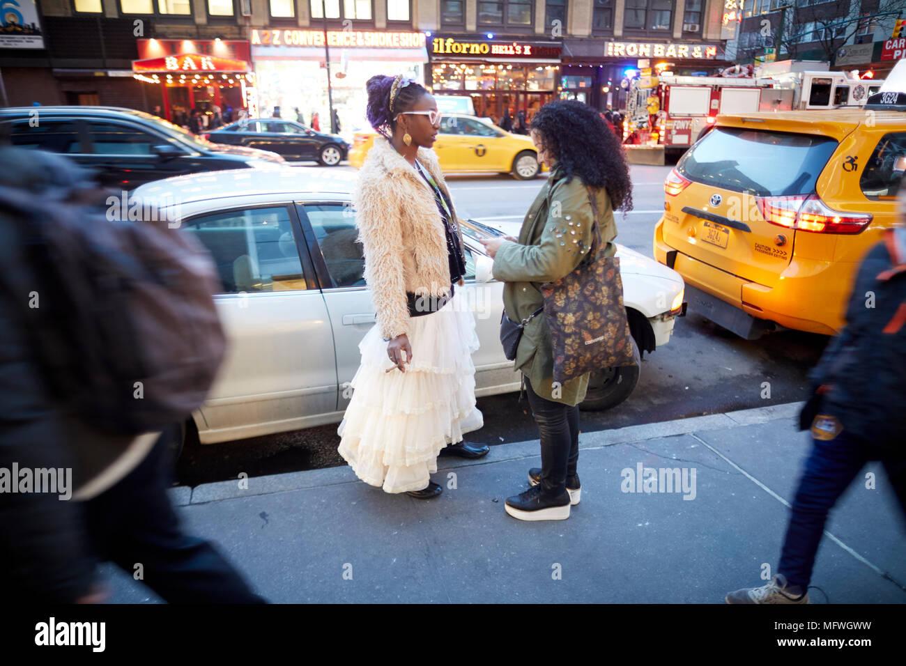 Manhattan in New York City, 8th Avenue Stockbild
