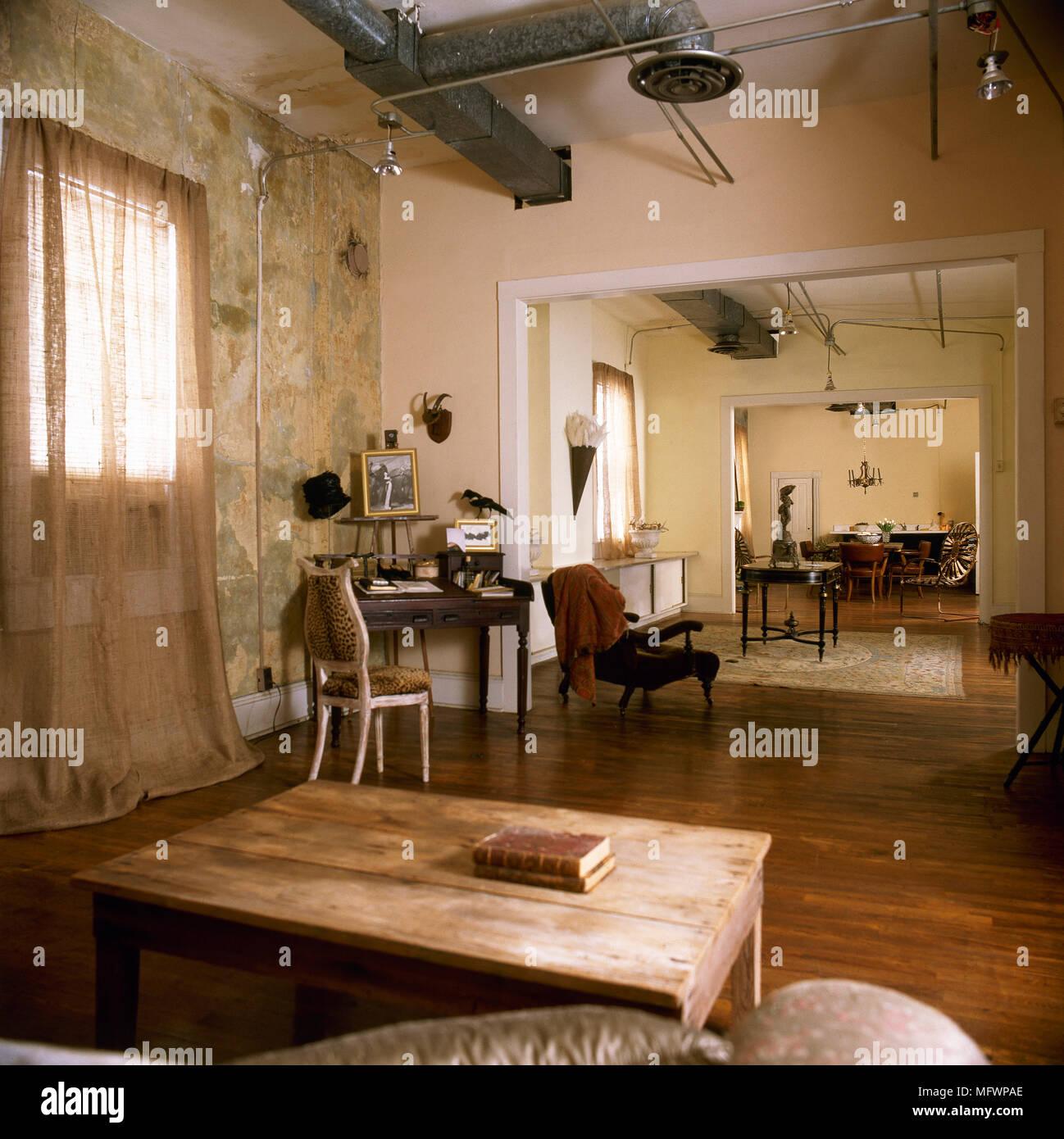 Wunderbar Landhausstil Offenen Gelben Wohnzimmer Mit Esszimmer über