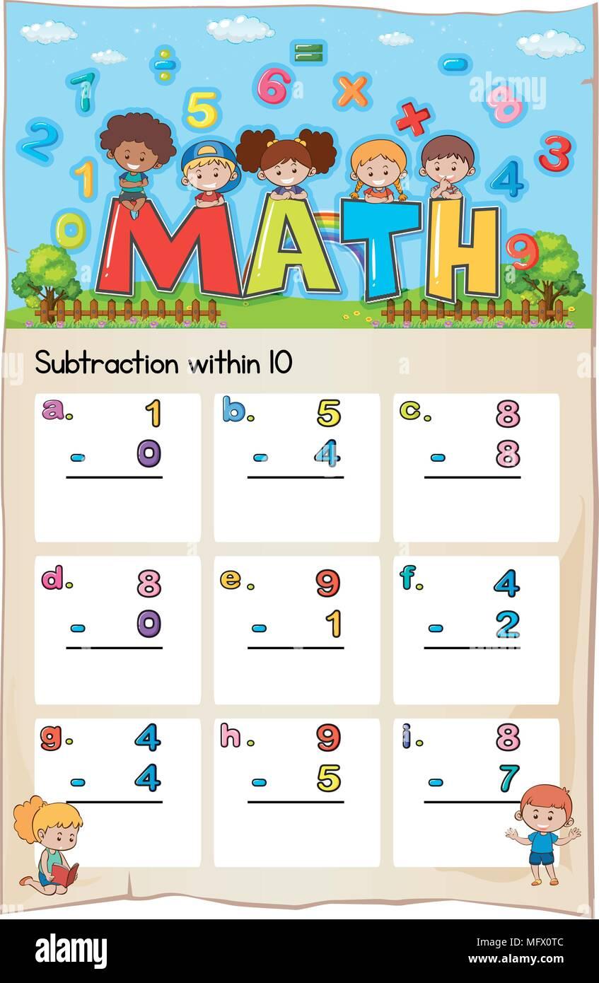 Wunderbar Mathe Arbeitsblatt Für Klasse 2 Addition Und Subtraktion ...
