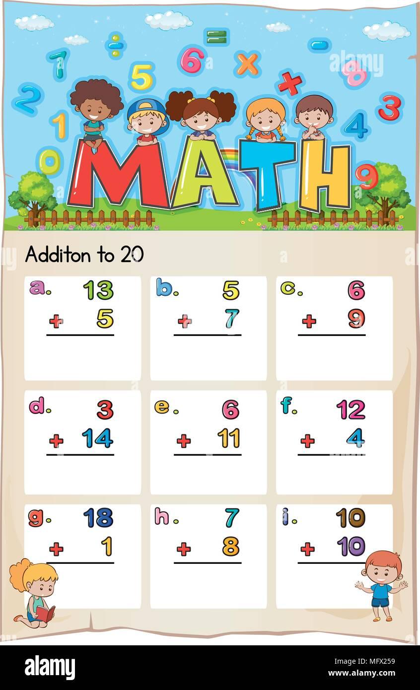 Wunderbar Kindergarten Mathe Arbeitsblatt Ideen - Mathe Arbeitsblatt ...