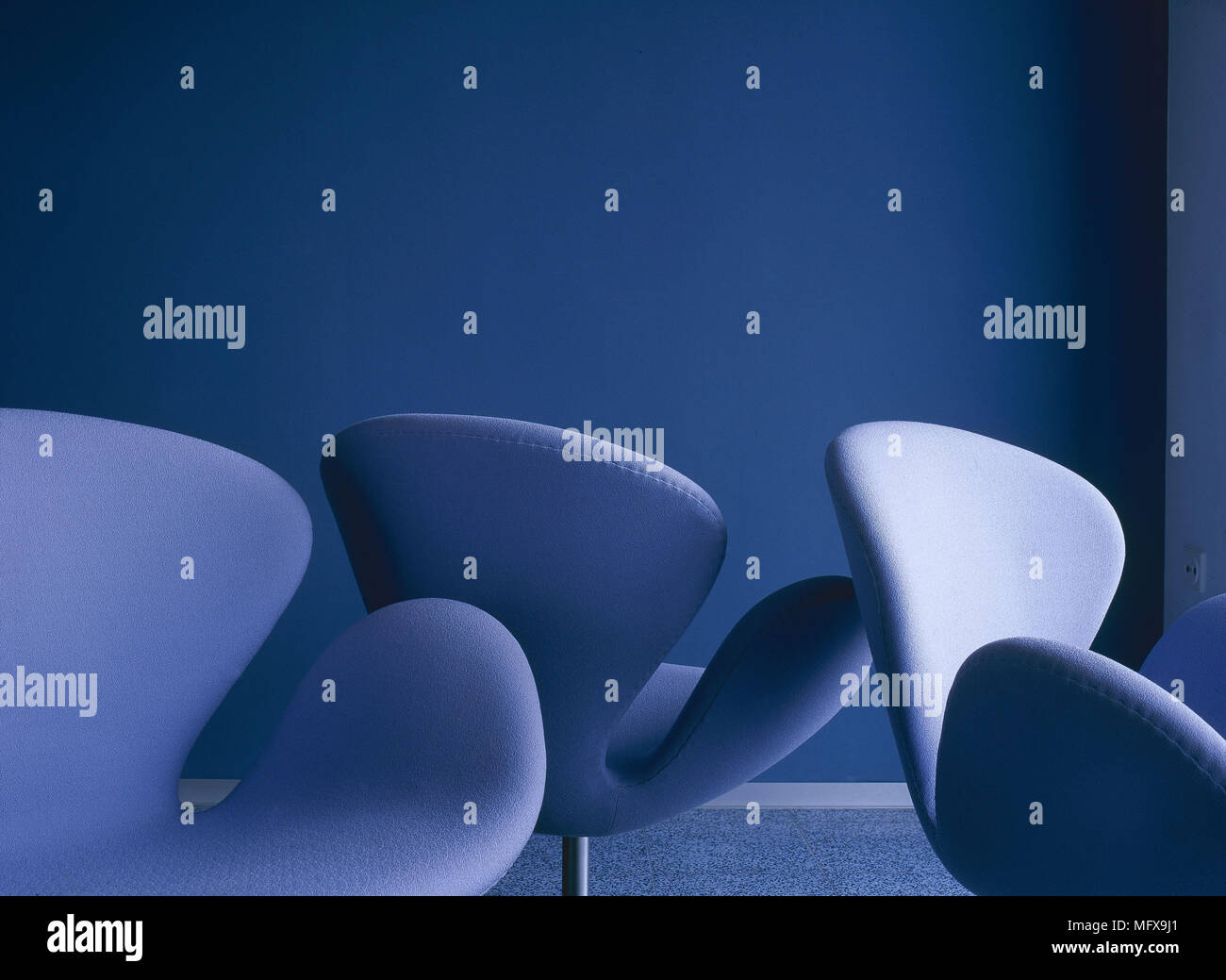Blau Swan Sessel Von Arne Jacobsen Moderne Designer Möbel