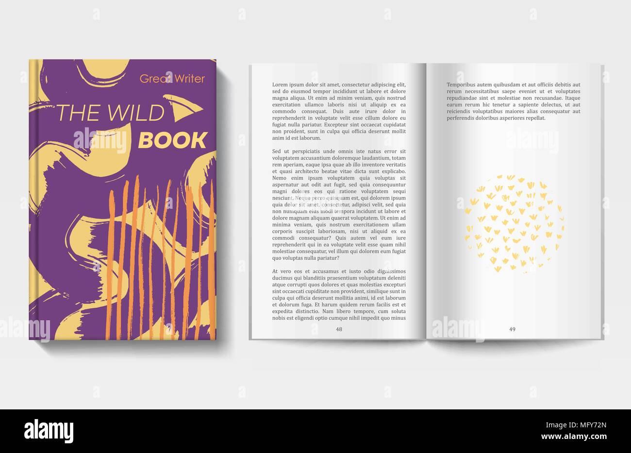 Buch-Design-Vorlage Vektor Abbildung - Bild: 181921789 - Alamy