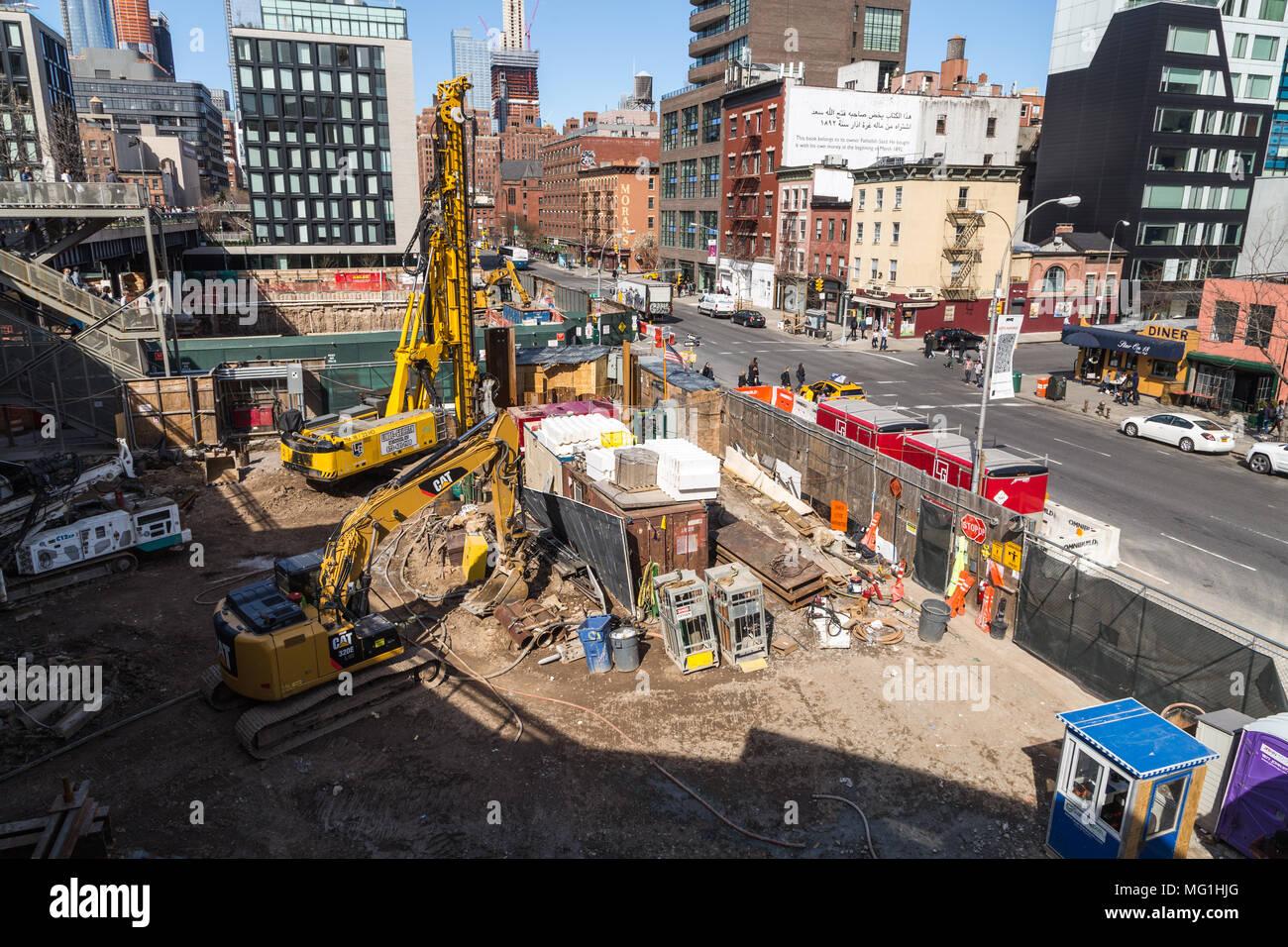 Baustelle, New York, NY Stockbild