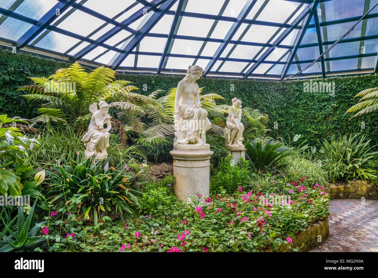 Üppig grüne Anlage Sammlung an der Fernery von Machattie Park Bathurst, einem wunderschönen viktorianischen Landhaus aus dem 19. Jahrhundert Park, Central Tablelands, New South Wal Stockbild