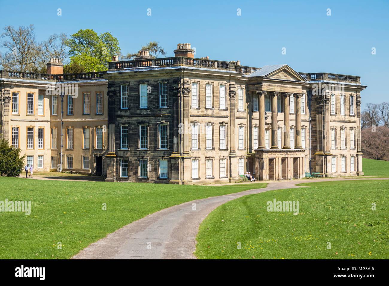 Calke Abtei Derbyshire Herrenhaus uk Calke Abtei Ticknall Derbyshire England uk gb Europapark Stockbild