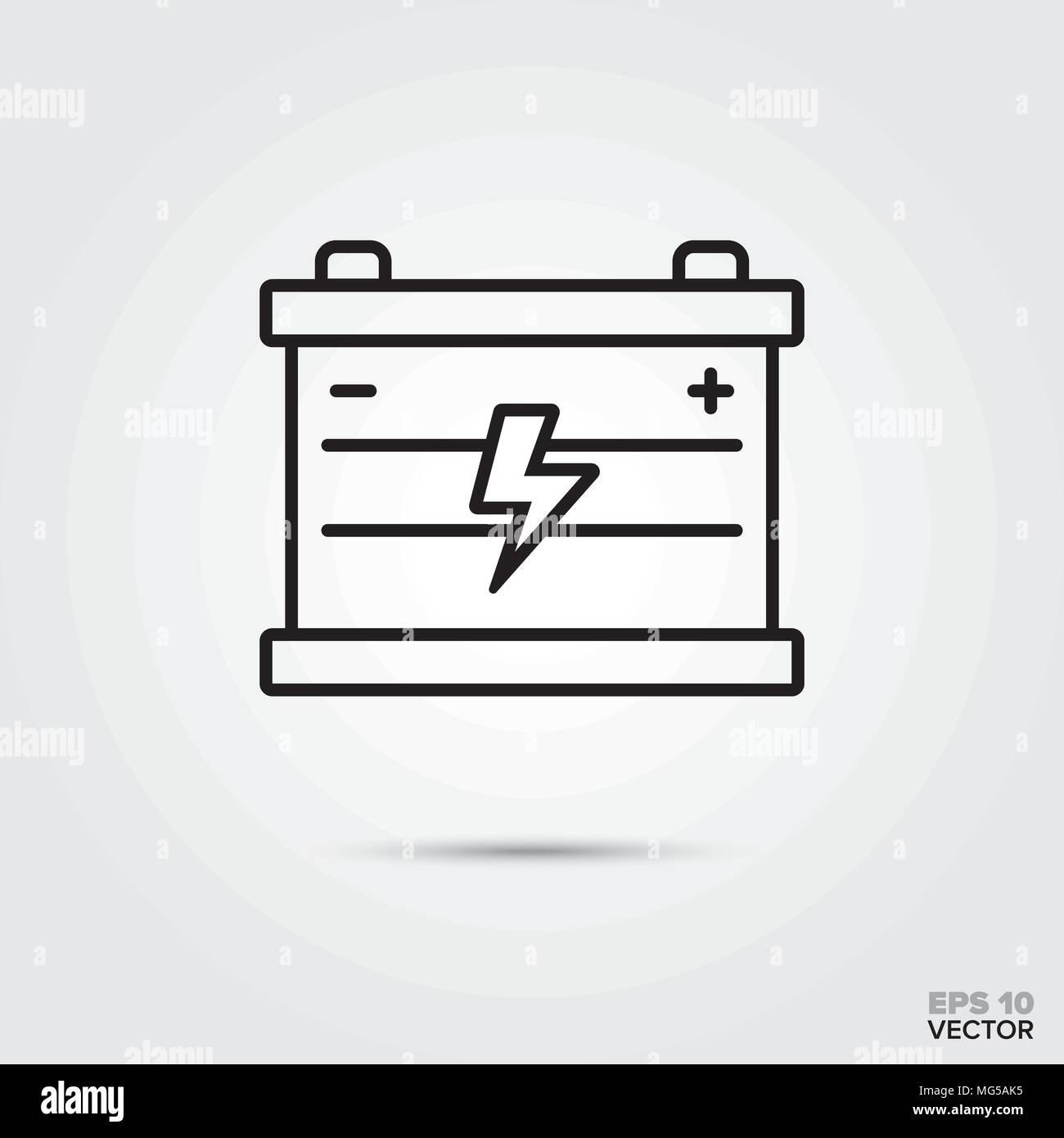 Auto Batterie Vektor Icon Kfz Teile Reparatur Und Service Symbol