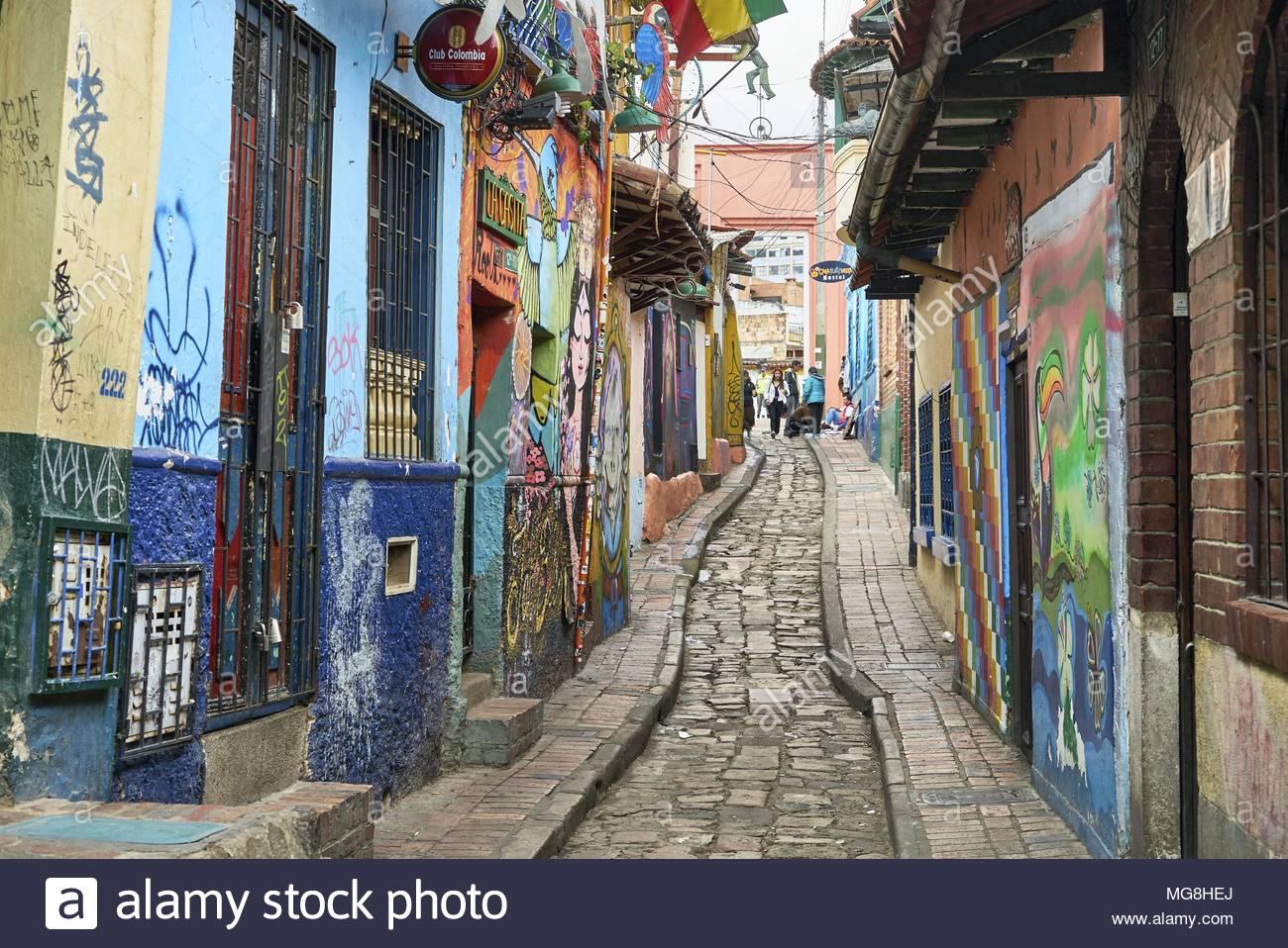 Graffiti in La Candelaria Stockbild