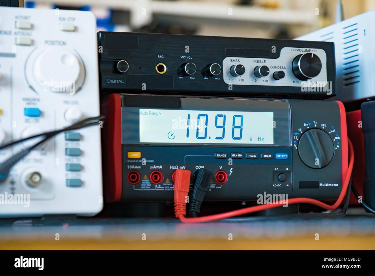 Elektronik Labor. Stockbild