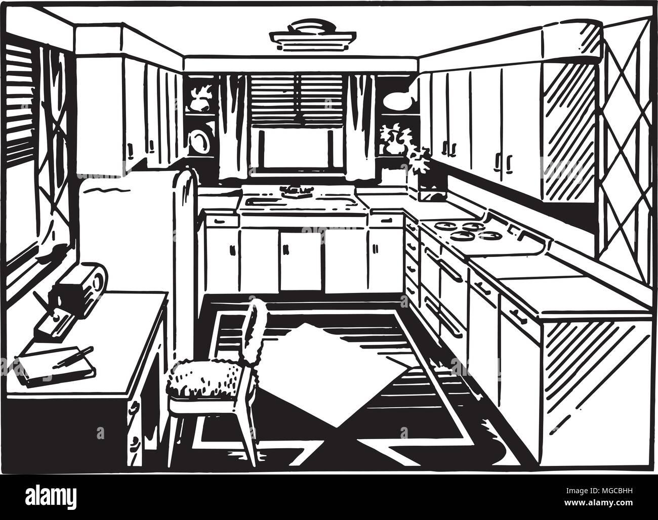 Schön Retro Küche Beste Wahl Küche 2 - Clipart Tration