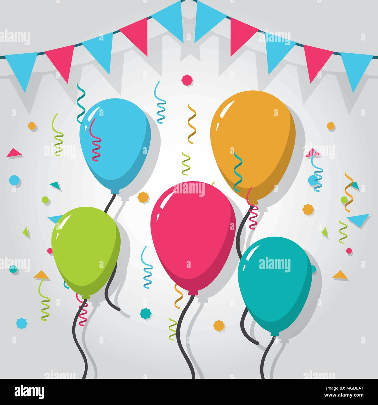 Vector Illustration Party Frame Balloons Stockfotos & Vector ...