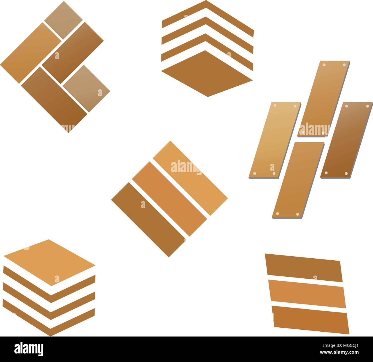 Modern Und Einfach Fliesen Holzboden Logo Holz Fliesen Logo Vektor