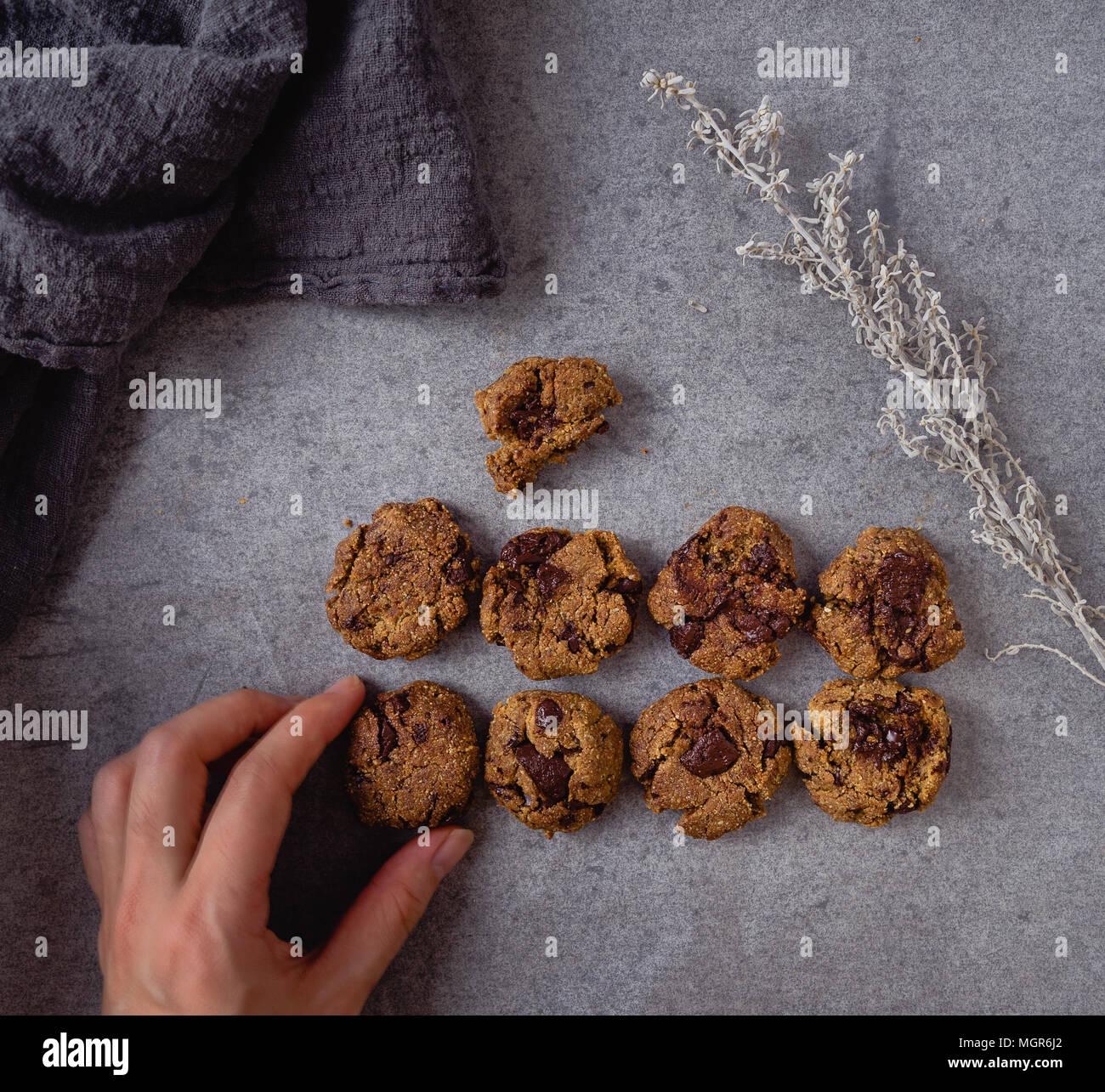 Chocolate Chunk Cookies Stockbild