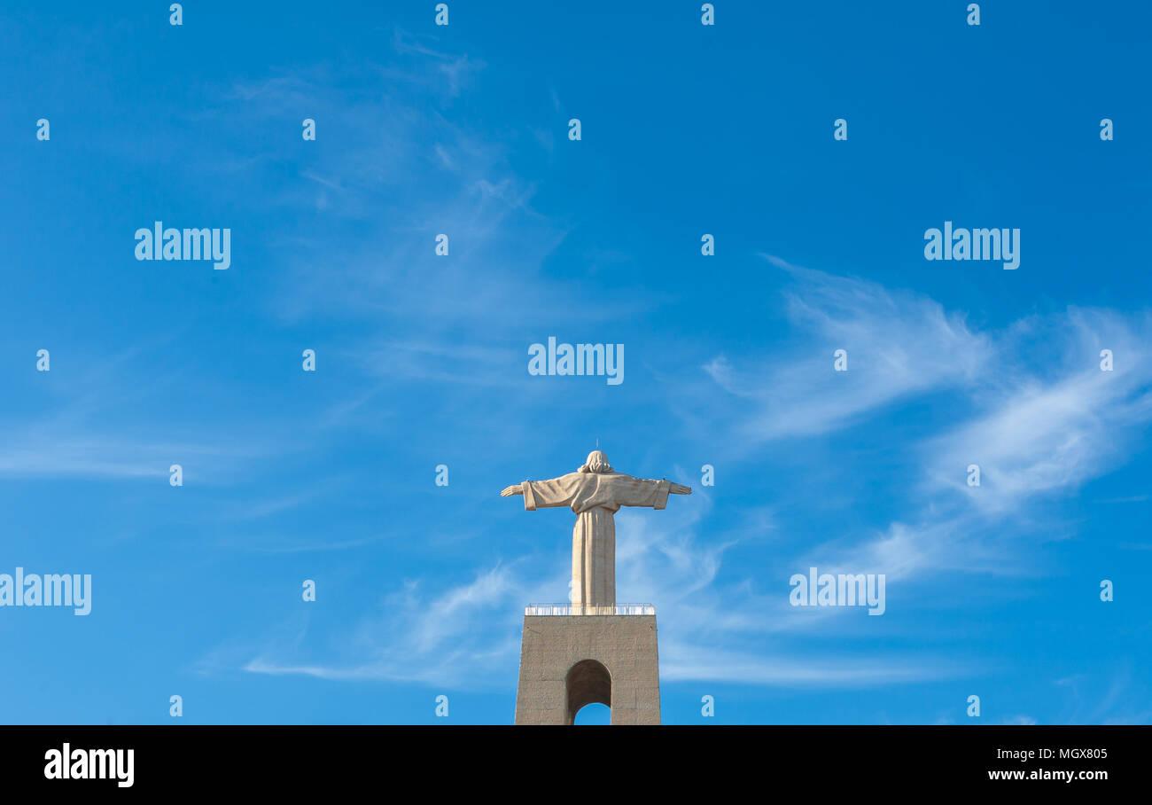 Lissabon almada Statue des Christus. Sommer Frühling Stockbild