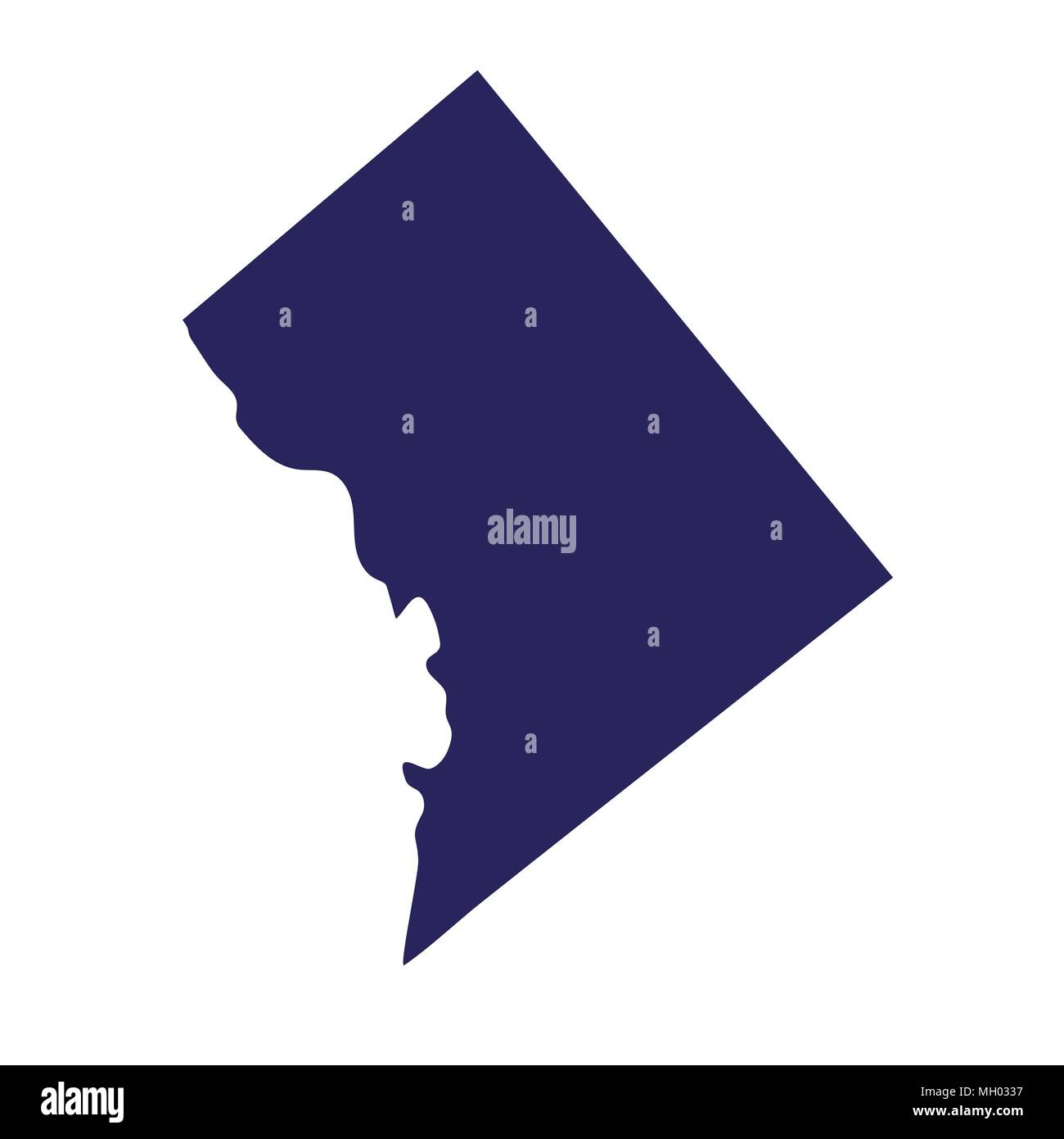 District Of Columbia Map on