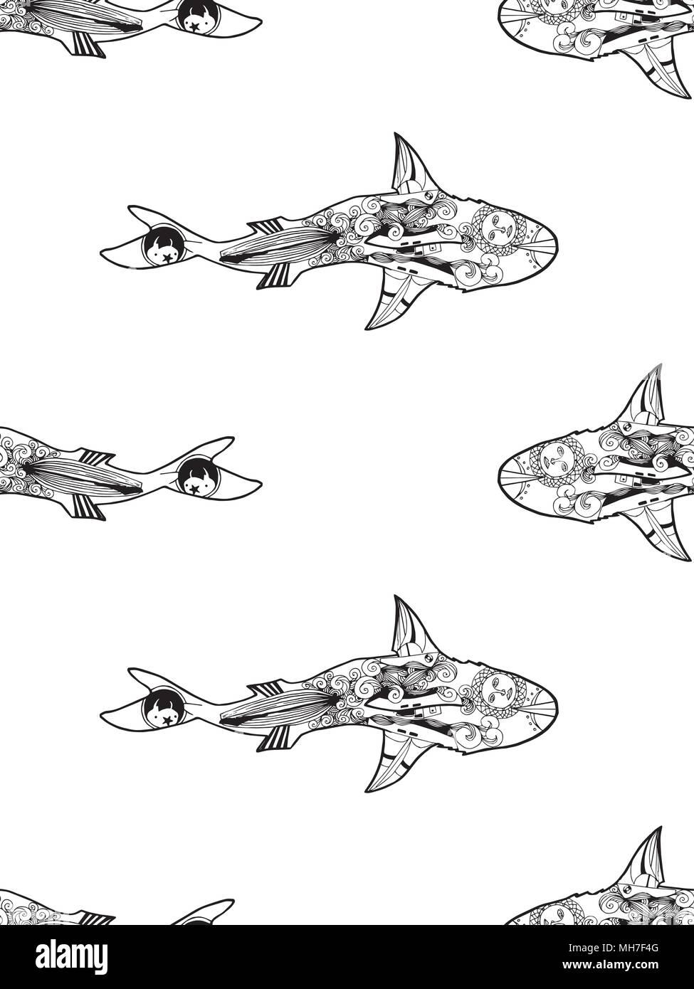Fein Tigerhai Färbung Seite Bilder - Beispiel Wiederaufnahme ...