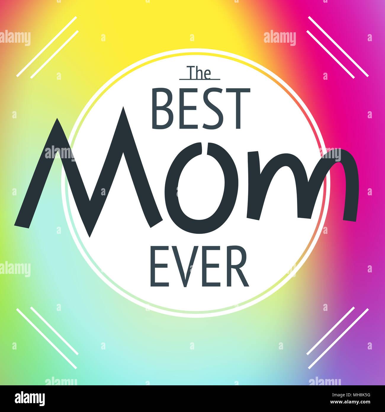 Happy Mother\'s Day layout Grußkarte Design. Rahmen mit Schriftzug ...