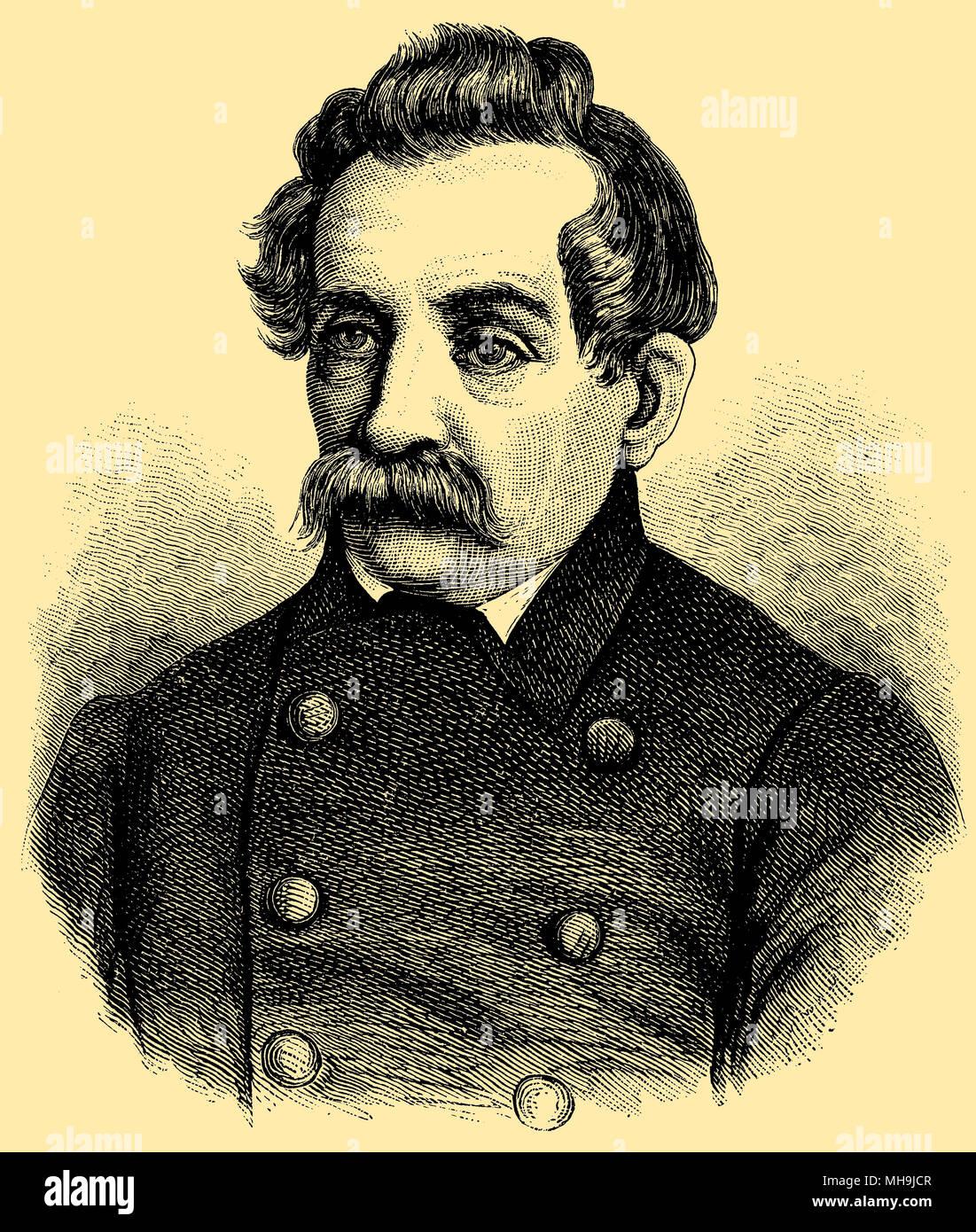 Heinrich Ludwig Beitzke (geboren Februar 15, 1798, starb am 10. Mai 1867), Stockbild