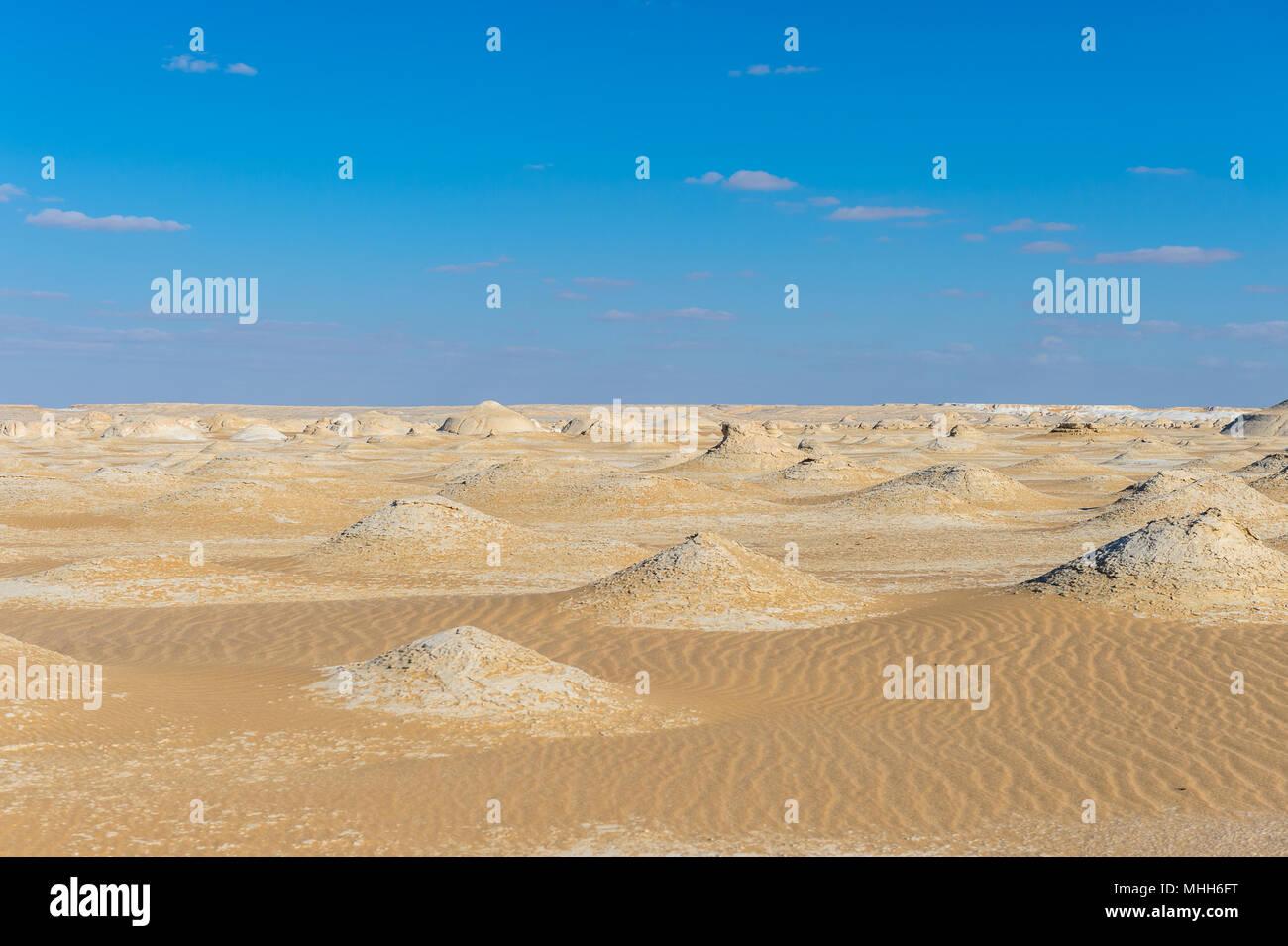 Weiße Wüste Formationen an der Weissen Wüste in Ägypten Stockbild