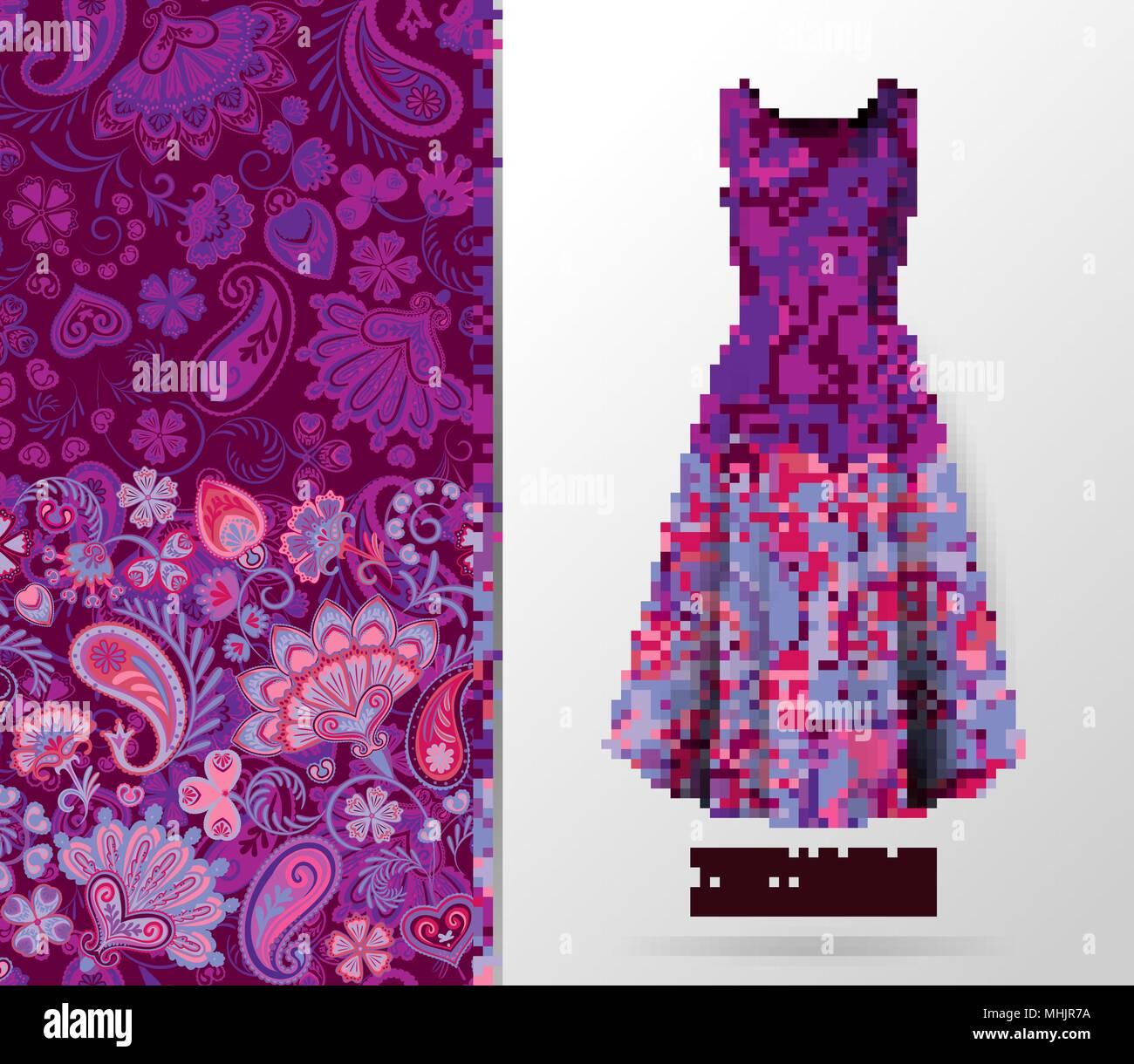Purple Print Dress Stockfotos & Purple Print Dress Bilder - Alamy