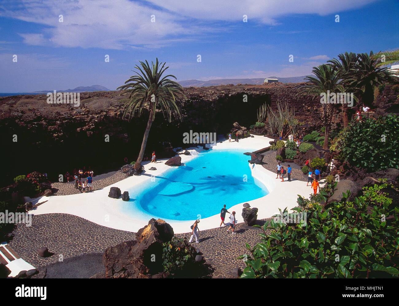 Jameos del Agua. Lanzarote, Kanarische Inseln, Spanien. Stockbild