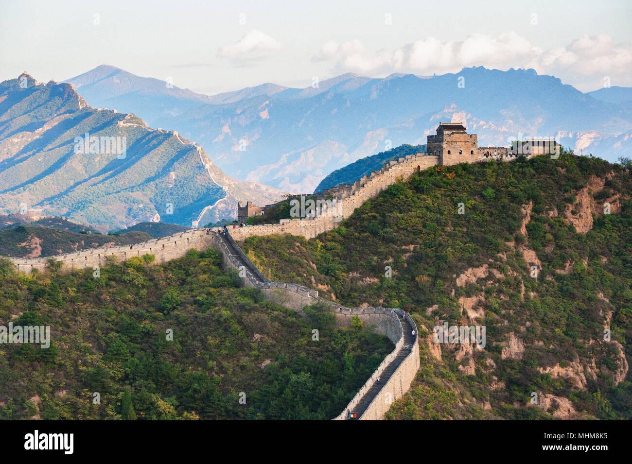 Jinshanling Great Wall, Provinz Hebei der Volksrepublik China Stockbild