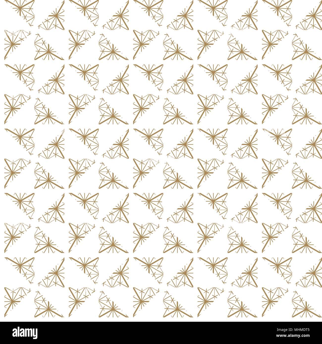 Japanische Muster Vektor. Gold geometrischen Hintergrund Textur für ...