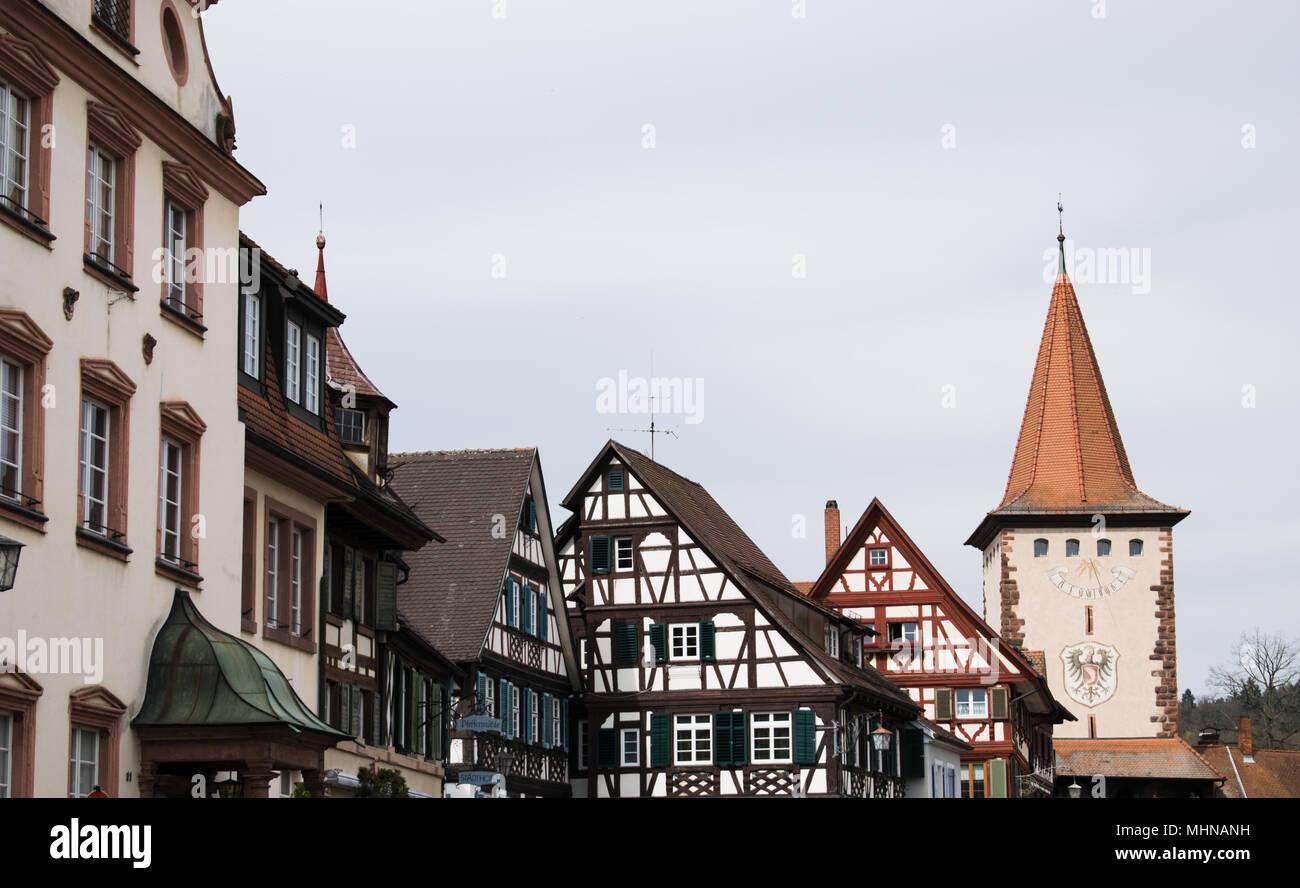 Traditionelle deutsche Fachwerkhaus in Gengenbach (Baden-Württemberg) Stockfoto
