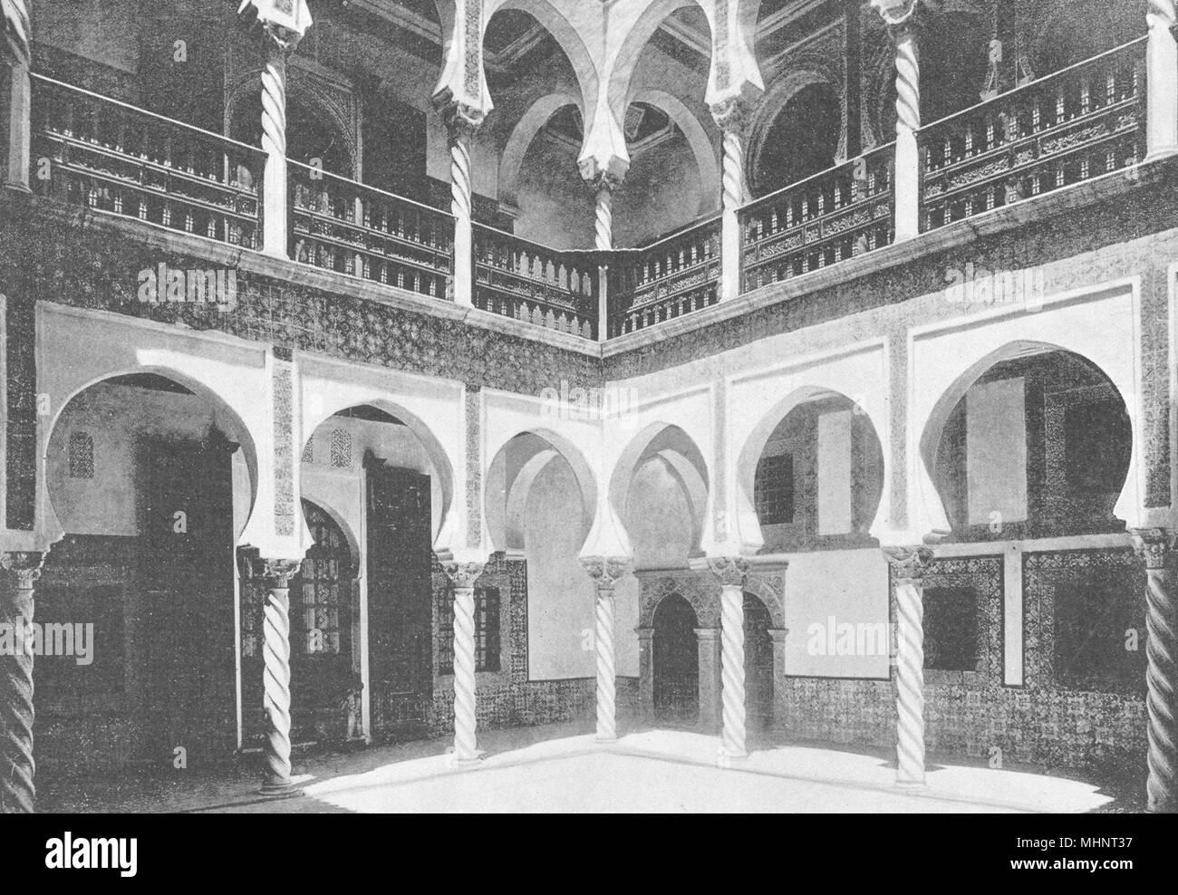 Algerien. Algier (Alger). Palais de L'des Erzbistums. Intérieur 1895 alten Drucken Stockbild