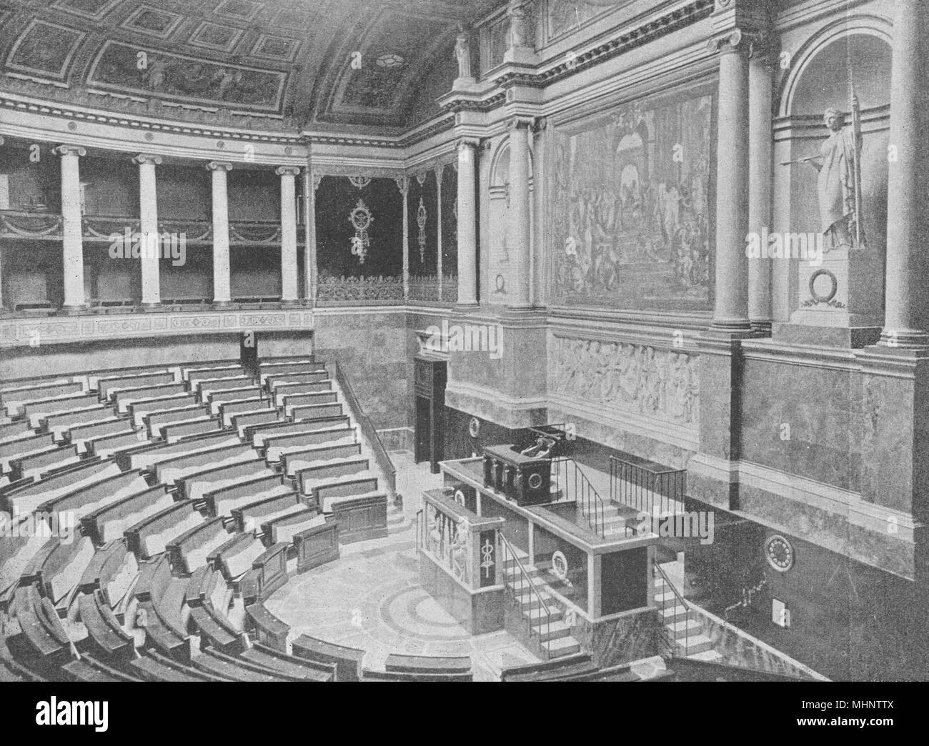PARIS. Chambre des Députés. Intérieur 1895 alte antike vintage Bild drucken Stockbild
