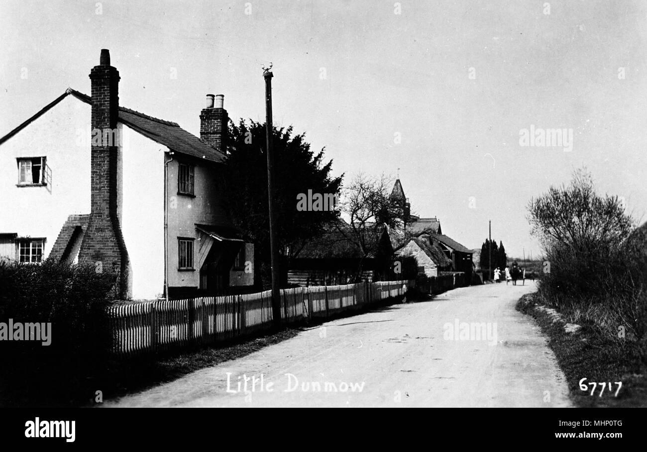 Szene im Dorf Little Dunmow, Essex. Datum: ca. 1910 s Stockbild