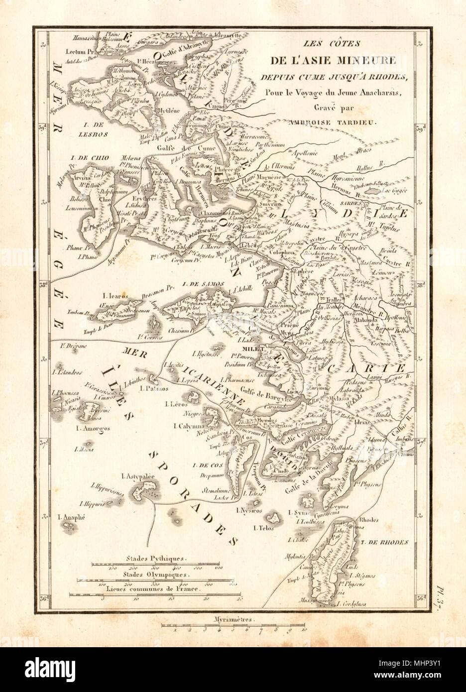 Türkische ägäis Karte.Dodekanes Inseln Der ägäis Les Cotes De L Asie Mineure Türkische
