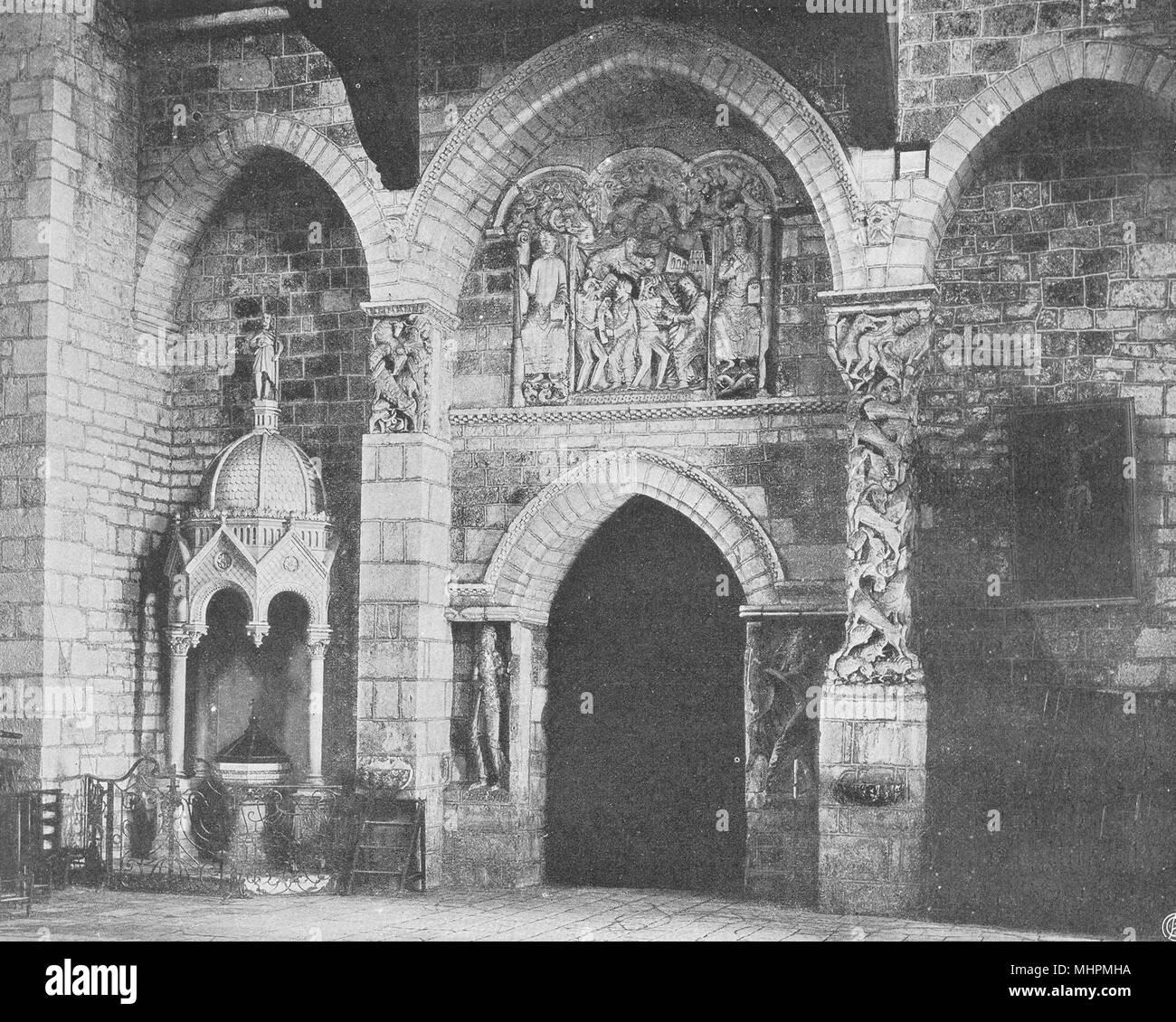 Viel. Souillac - Intérieur de I'église 1904 alte antike vintage Bild drucken Stockbild
