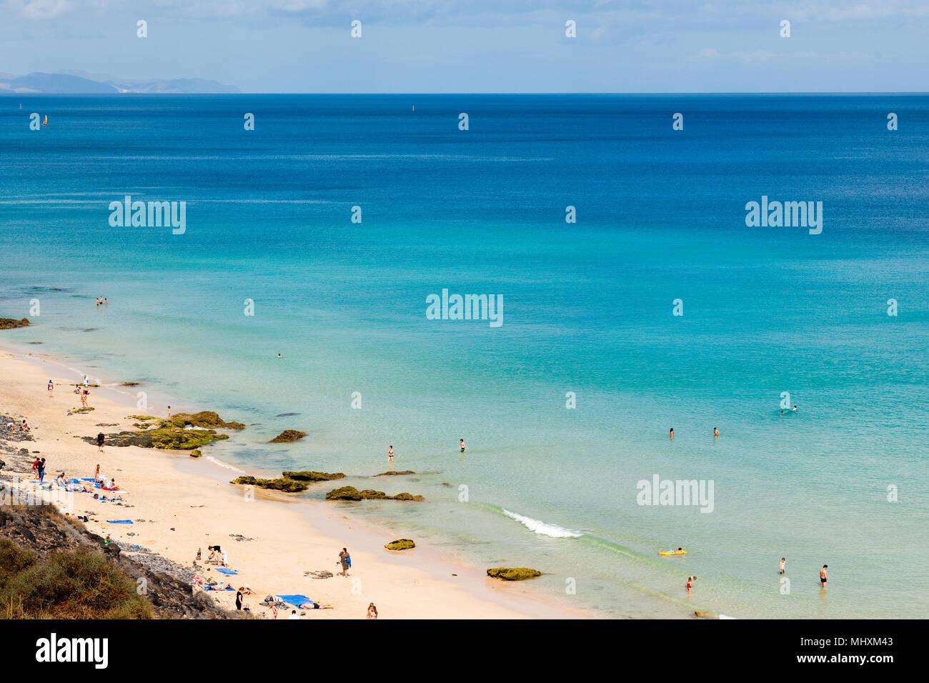 Beach, Fuerteventura, Kanarische Inseln, Spanien, Europa, Atlantik / Fuerteventura | Strand, Fuerteventura, Kanarische Inseln, Kanaren, Spanien, Europa, An Stockbild