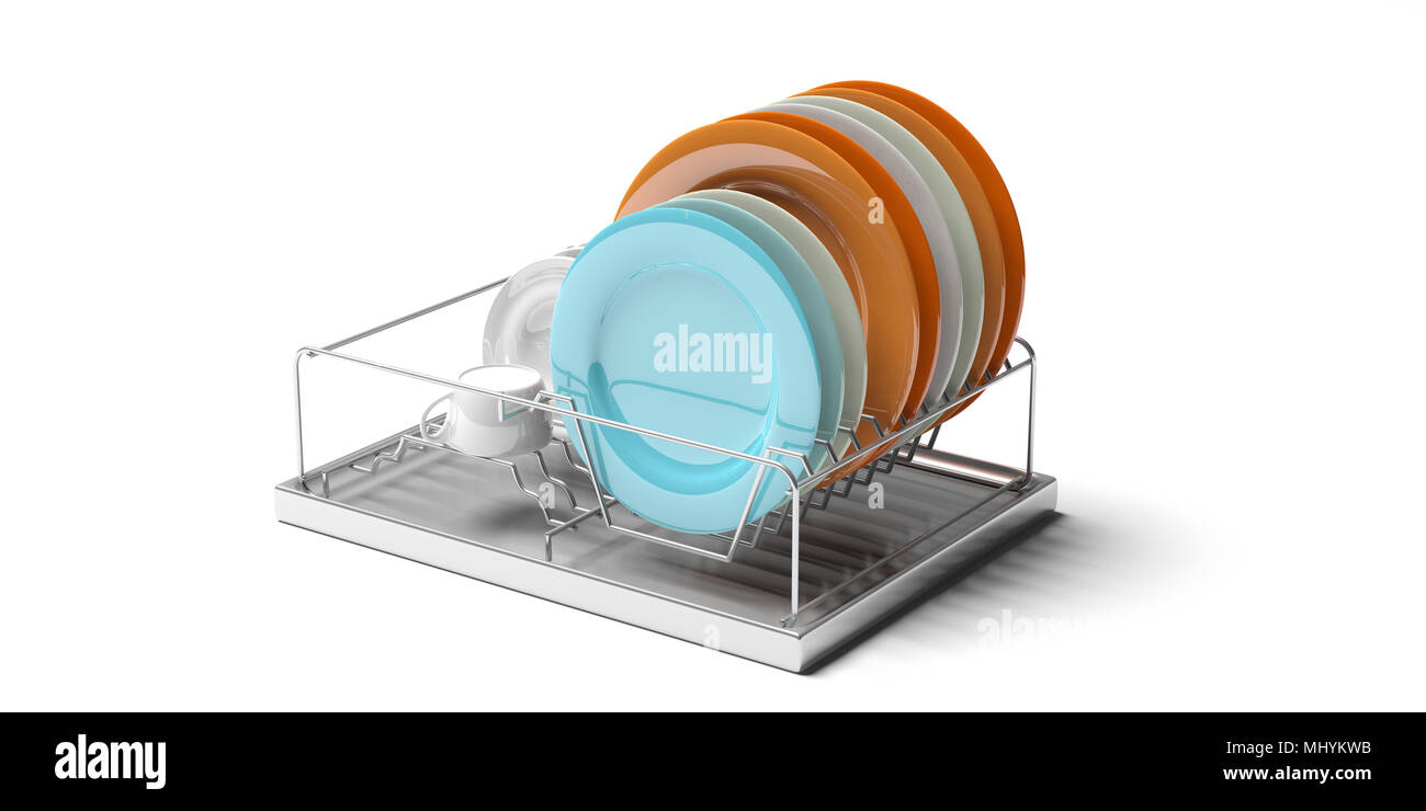 Terrific Kitchen Sink Dish Trocknen Metall Rack Mit Bunten Platten Download Free Architecture Designs Philgrimeyleaguecom