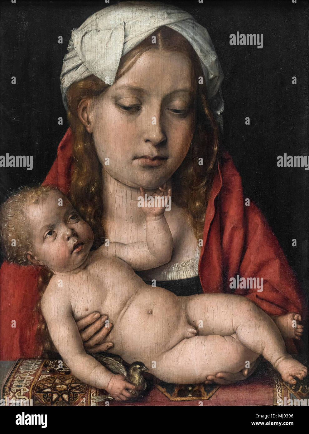 Michel Sittow (Ca. 1469-1525/26), Maria mit dem Kind, Ca. 1515/18. Maria, mit dem Art. Stockbild