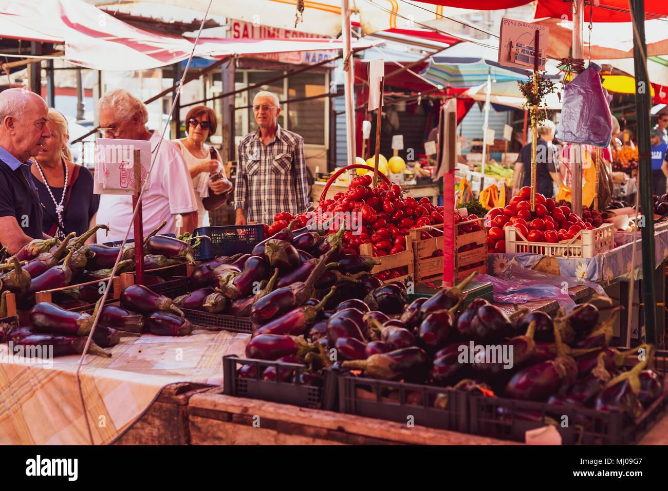 Palermo, Ballarò Markt, Sizilien, Italien Stockbild