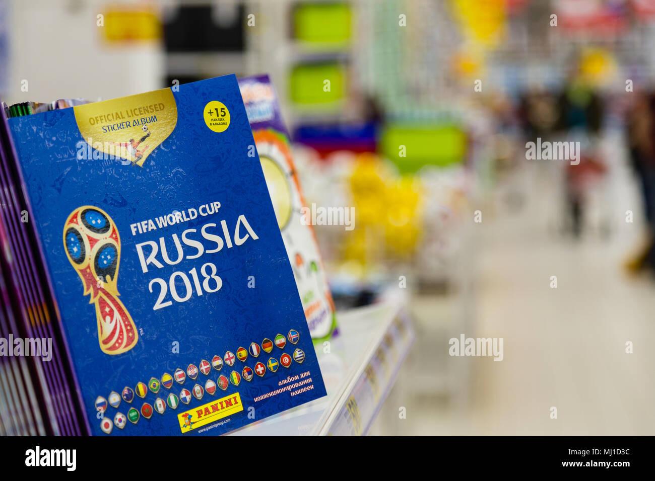 Moskau Russland 27 April 2018 Offizielle Album Für Aufkleber