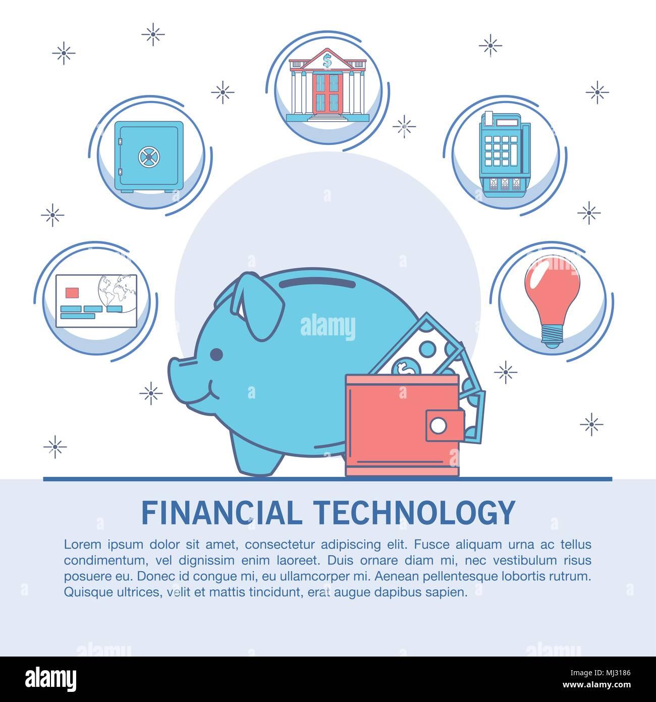 Finanzielle Technologie Infografik Stockbild