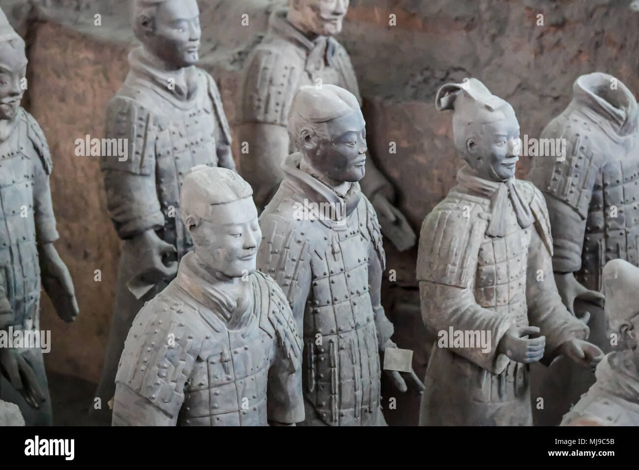 Terra Cotta Soldaten in Xian, China Stockbild
