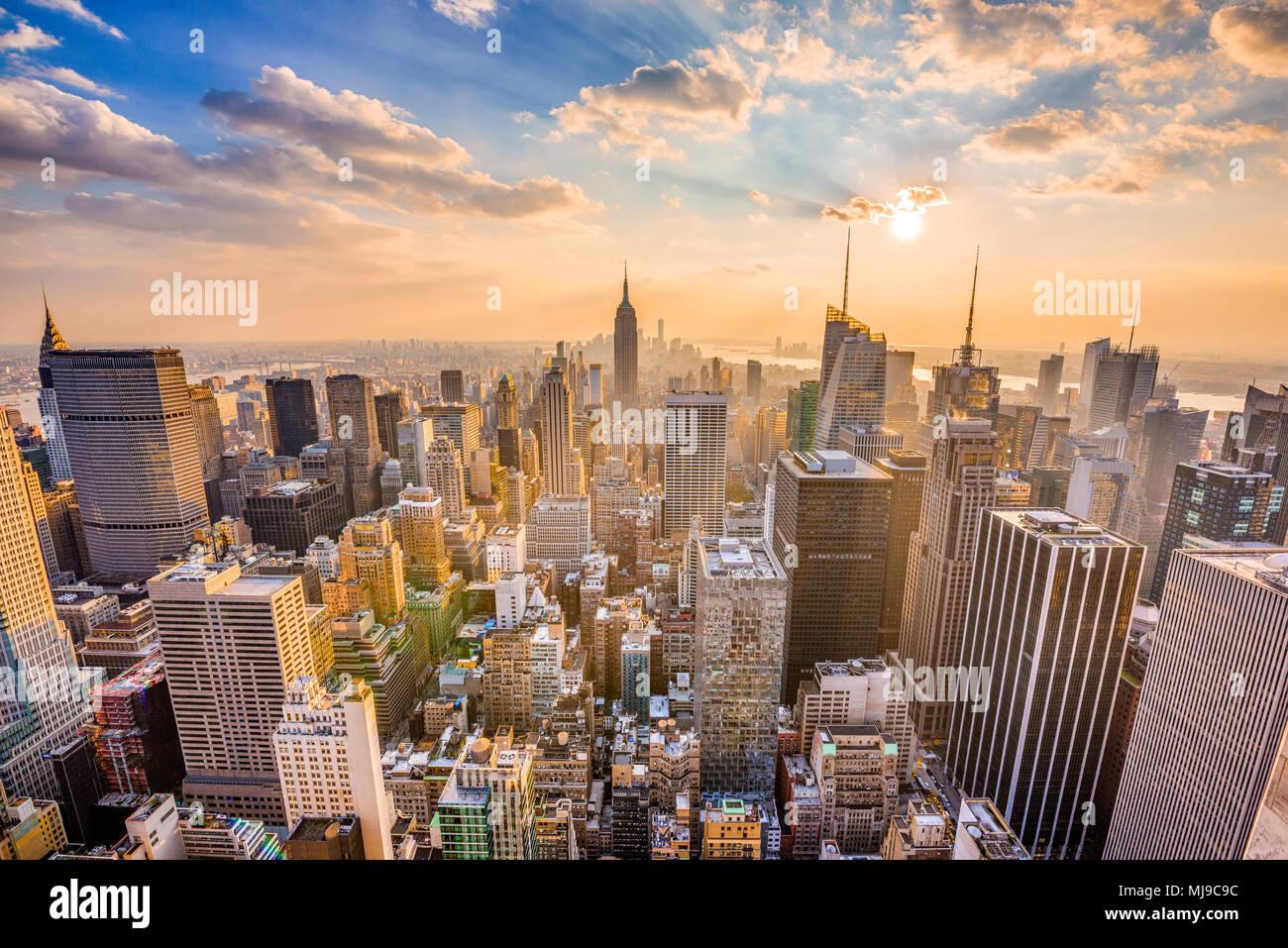 New York, New York, USA Midtown Manhattan Skyline. Stockbild
