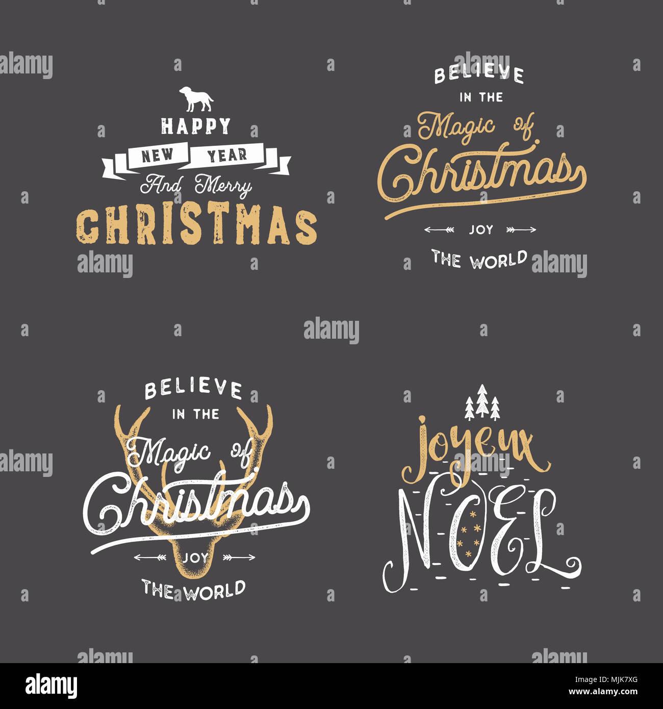 Frohe Weihnachten Typografie Anführungszeichen Wünsche